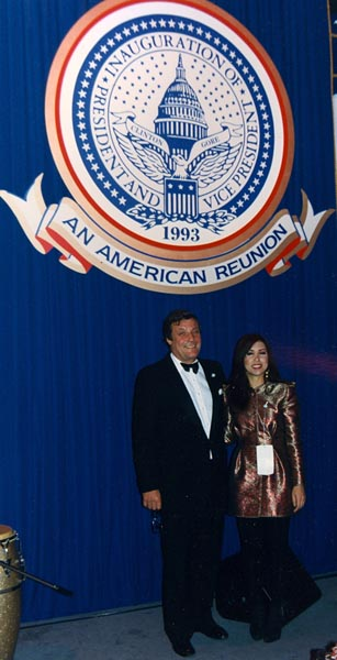 Peter Duchin and Roberta at 1993 Presidential Inauguration.