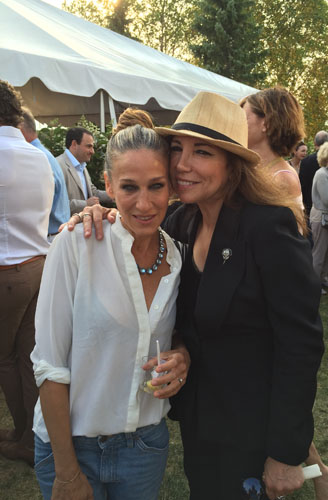 RF and Sarah Jessica Parker performing at the 2015 annual Chef's Dinner for the benefit of the Hayground School in Bridgehampton, NY. Hosted by Toni Ross.