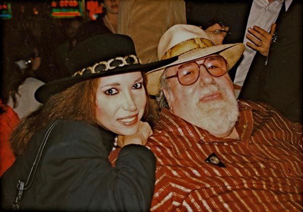 Roberta with song writing partner Doc Pomus at Doc's 60th birthday party
