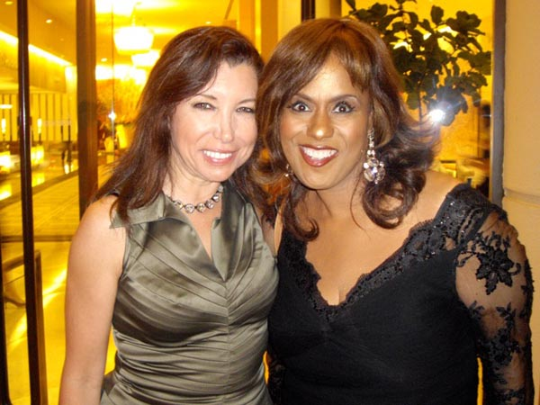 Roberta with Jennifer Holliday at Eli Broad's Birthday party in LA