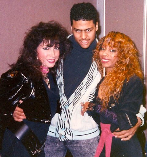 Roberta with Al B. Sure! and DoubleZ at B.E.T. TV show