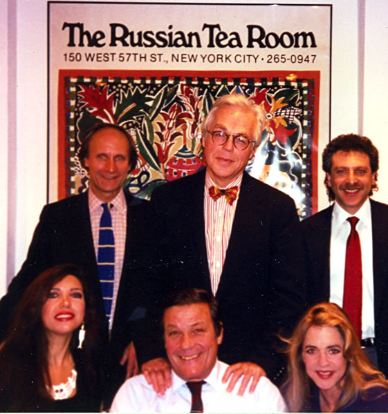 With Stockard Channing , John Guarre  and friends at the Russian Tearoom