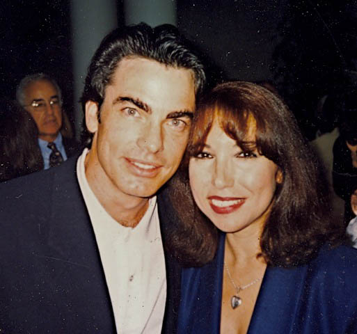 With Peter Gallagher in NYC