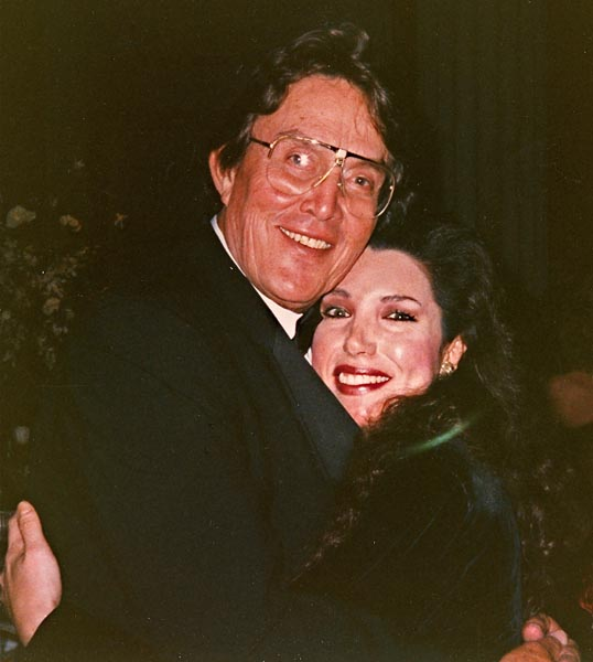 With Jimmy Dean at Pre-Presidential Inaugural Dinner