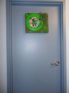 Green Room Sign on Door
