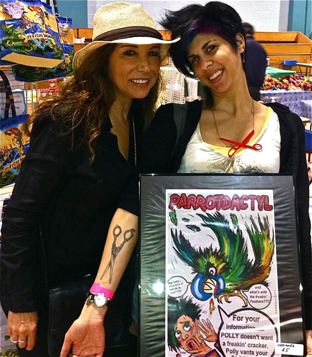 With a buyer of a Parrotdactyl print