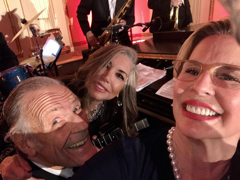 Peter Duchin, Roberta Fabiano and Paige Peterson at the 2019 NY Preservation Society's Living Landmarks Gala. The Plaza Hotel, NYC